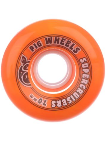 Pig Wheels Supercruiser Swirl 85A 70mm Wheels