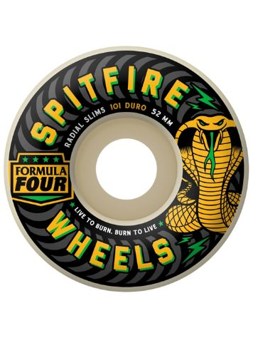 Spitfire Formula Four 101D 52mm Radial Slims Speed Kills Reg Rollen
