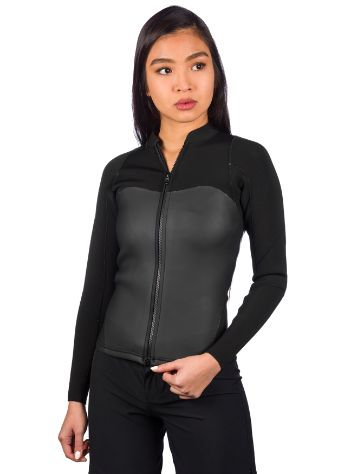 Roxy 2.0 Satin Front Zip Rash Guard LS