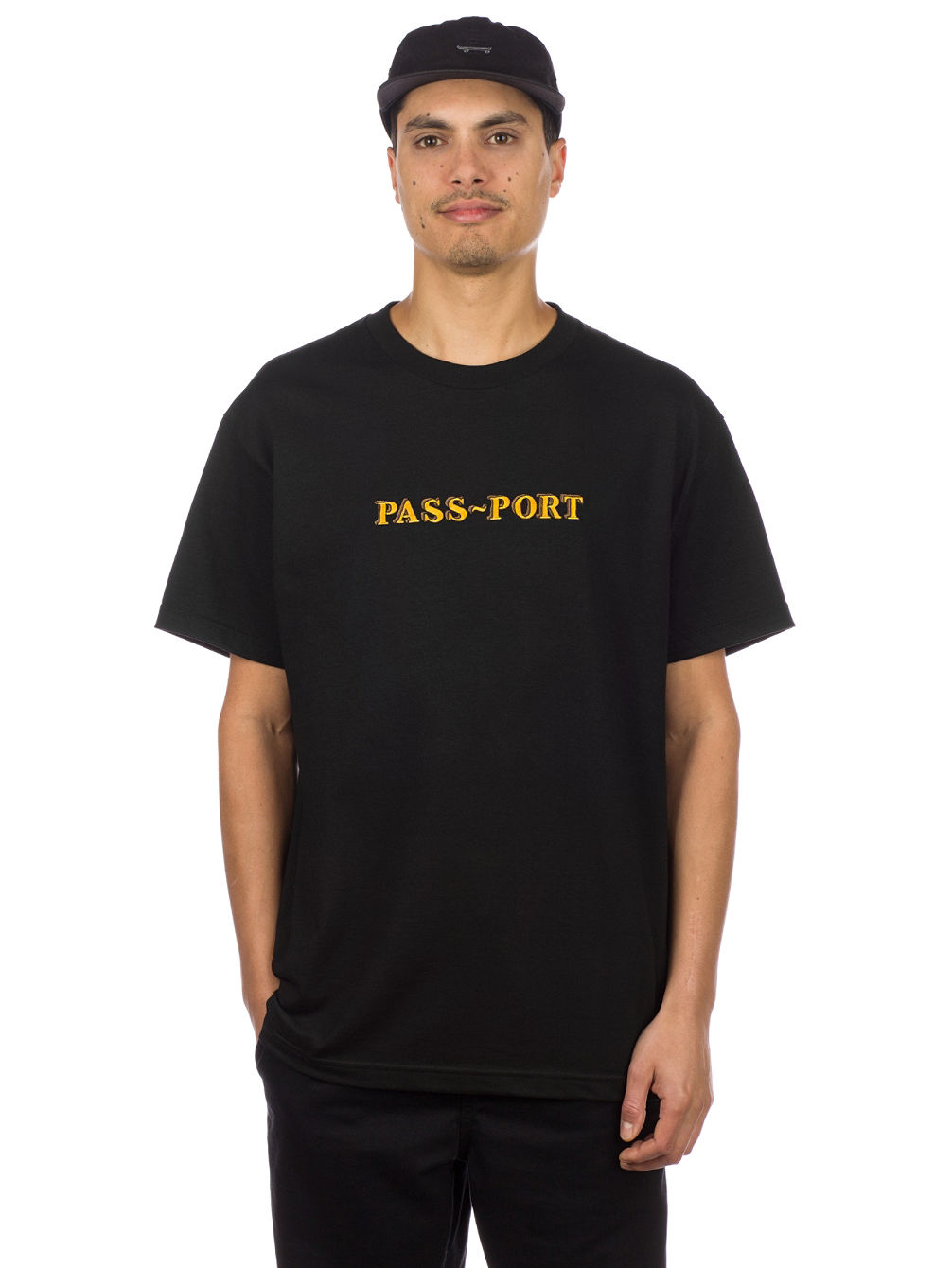 Solid Bar Embroidery T-Shirt