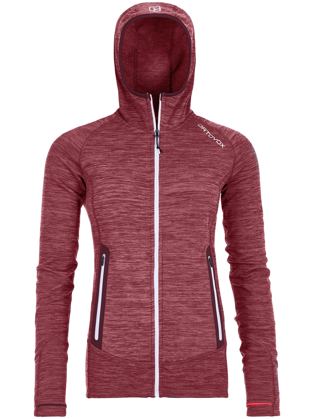 Light Melange Hooded Fleece Pullover