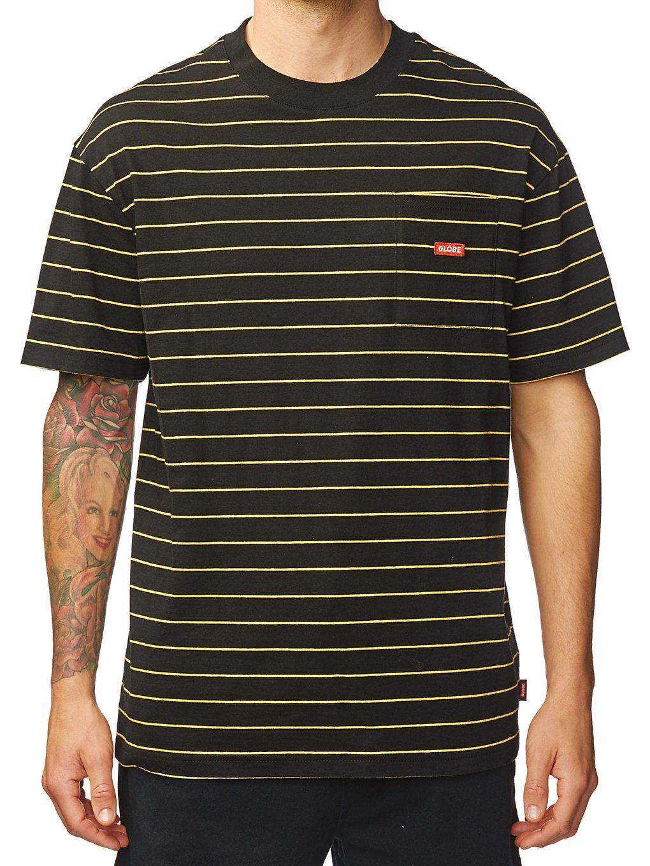 Globe Bar Stripe T-Shirt black