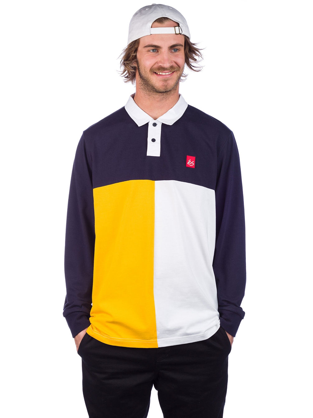Split Polo Longsleeve Polo
