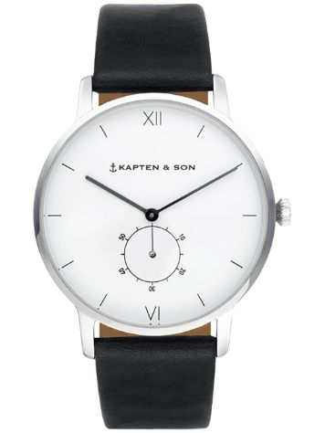 Kapten&Son Heritage Black Leather Reloj
