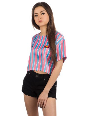 Ellesse Naga Stripe Crop T-Shirt