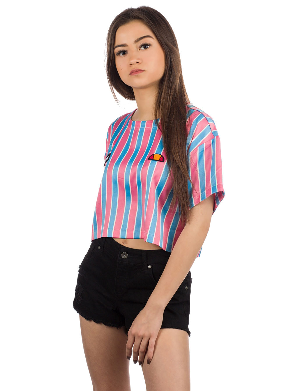 Naga Stripe Crop T-Shirt