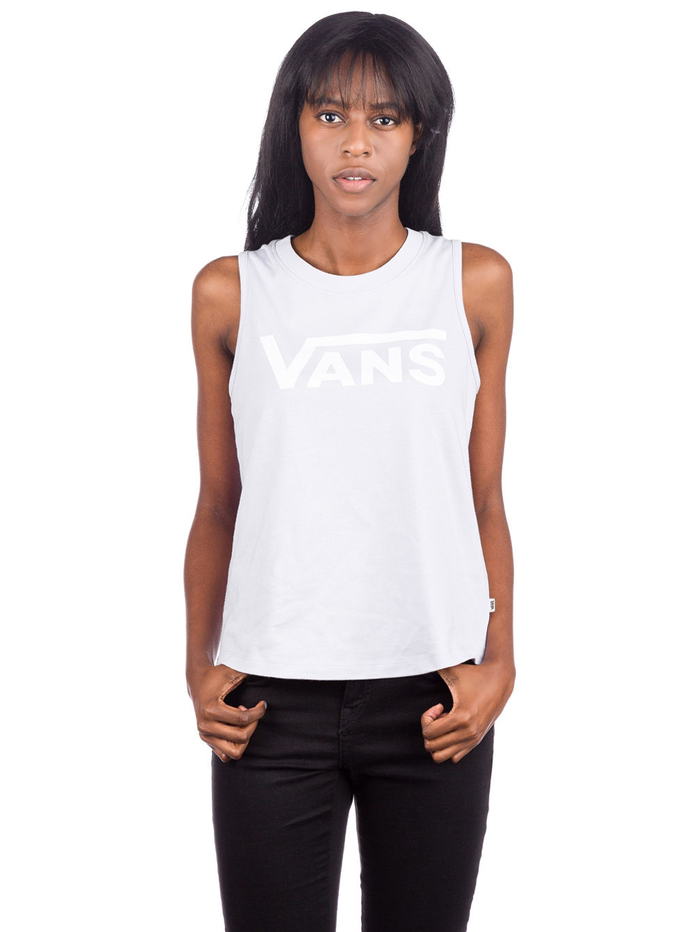 Flying V Muscle Scoop Tank Top