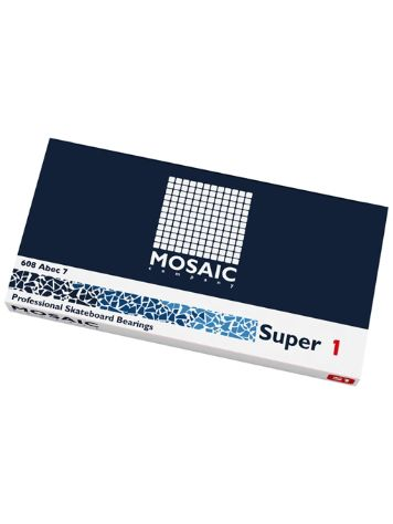 Mosaic Super 1 Abec 7 608RS Black Bearings