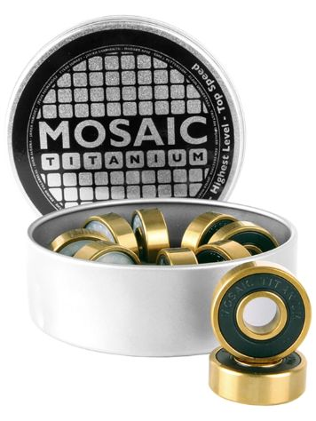 Mosaic Super Titanium 1 Abec 7 608RS Black Bearings