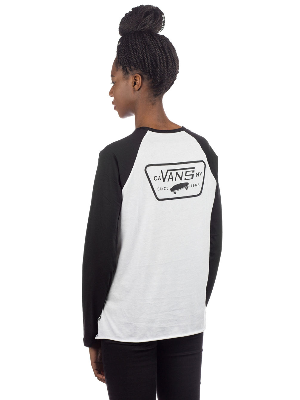 Full Patch Raglan Langarmshirt
