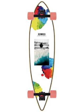 "Long Island Longboards Watercolor Pintail 9.5"" Completo"
