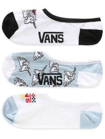 c298febf2a 60.39  Vans Unicornbow Canoodles 7-10 3Pk Socks
