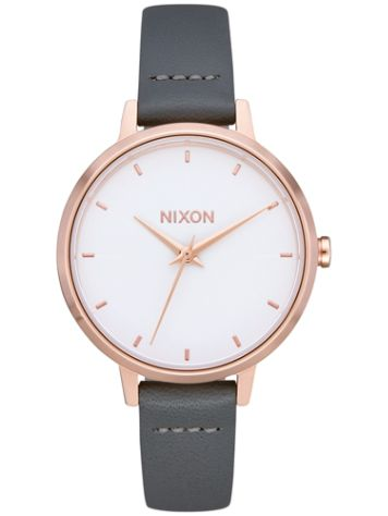 Nixon The Medium Kensington Leather Horloge