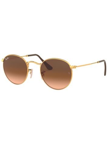 Ray-Ban Round Metal Shiny Light Bronze Zonnebrillen