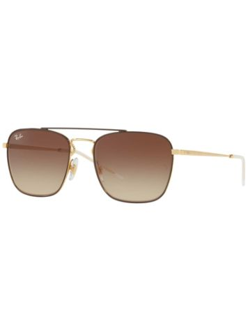 Ray-Ban RB3588 Gold Top On Brown Occhiali da Sole