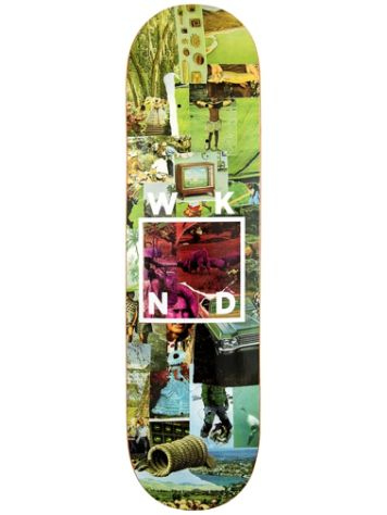 WKND Collage Logo Green 8.5 Skateboard Deck