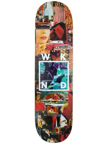 WKND Collage Logo Red 8.6 Skateboard Deck