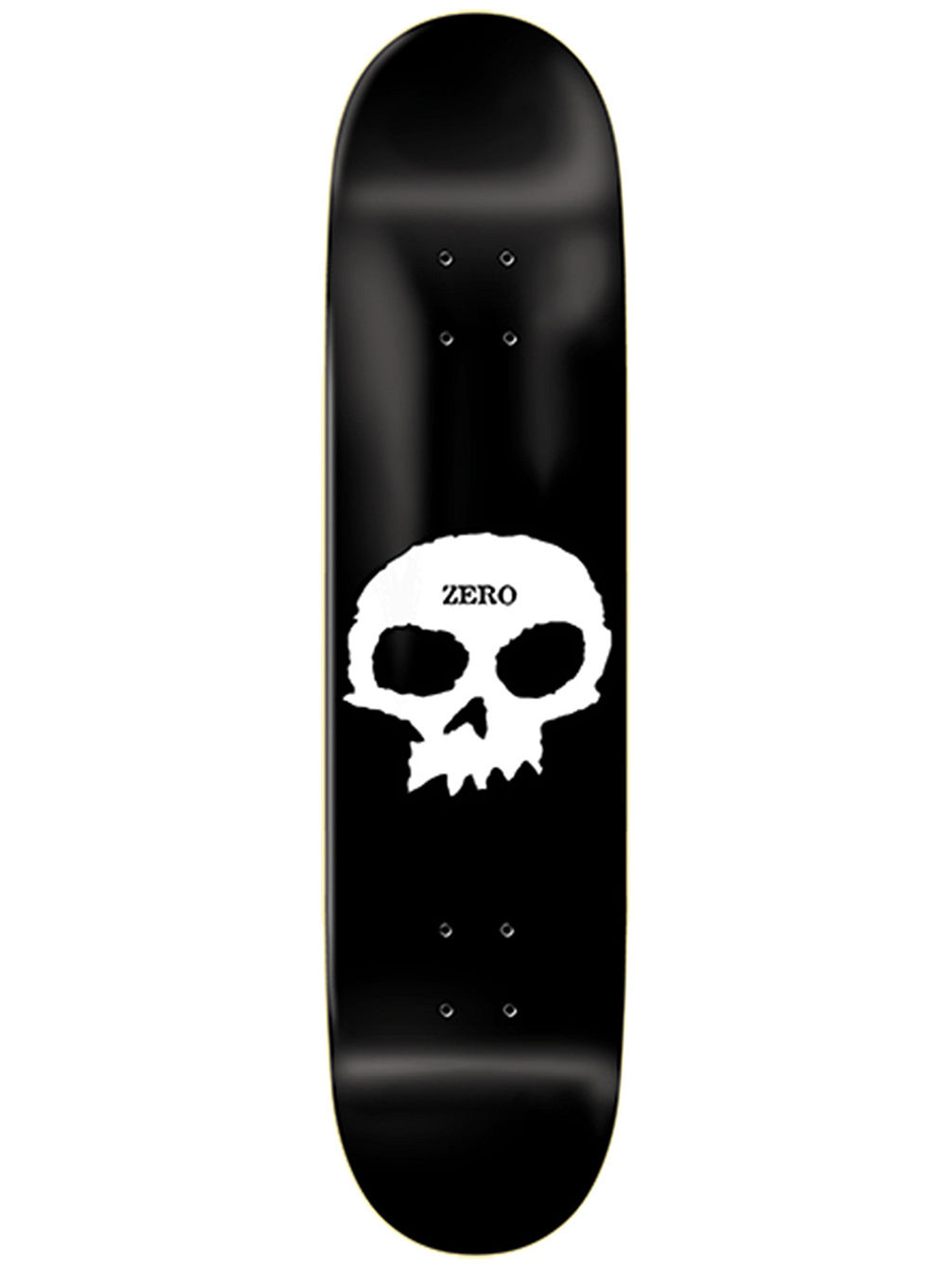 Single Skull Black 8.25' Skateboard Deck