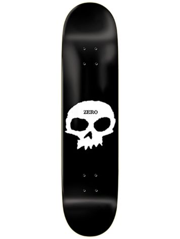 Zero Single Skull Black 8.25 Skateboard Deck