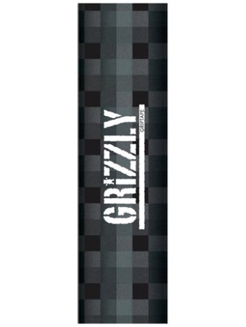 Grizzly Charcoal Plaid Stamp Griptape
