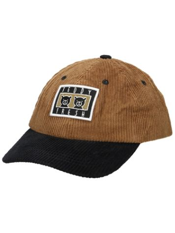 Teddy Fresh Brown Corduroy Two Peds Patch Cap