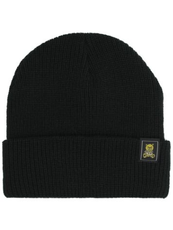 Teddy Fresh Black Double Layer Beanie