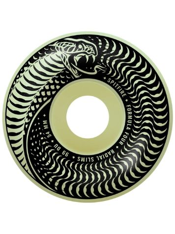 Spitfire Venomous Radial Slim 54mm Glow Wheels