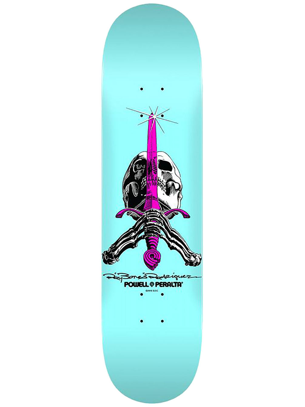 "Skull&Sword Pastel Pop 8.0"" Skateboard Deck"
