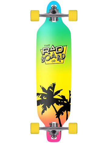 "RAD Board Co. Block Fade 9.5"" x 36"" Drop Through Longboard"