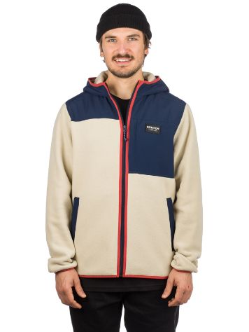 Burton Hearth Hooded Full Zip Fleecejacke