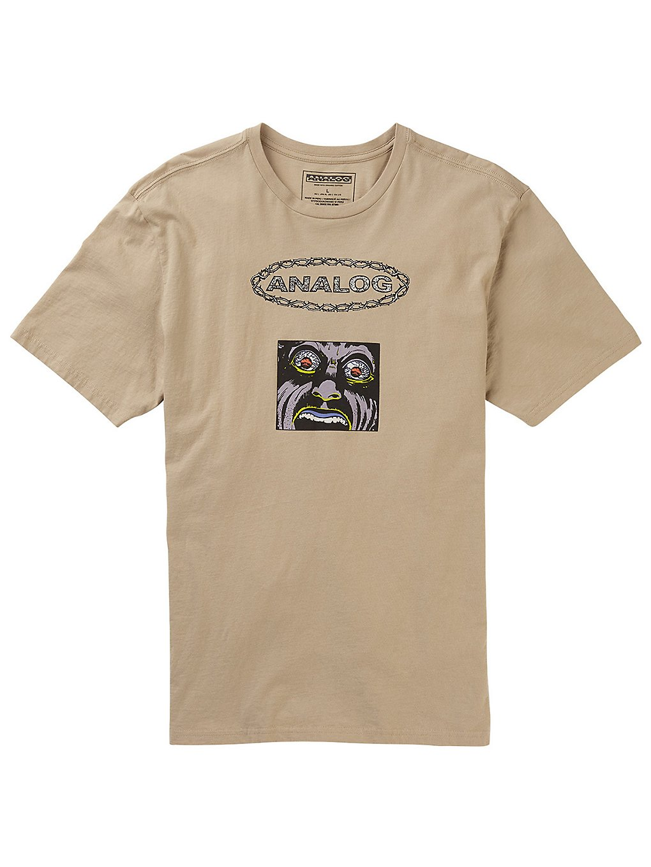 Analog flatout t-shirt ruskea, analog
