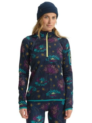 Burton ak Turbine 1/4 Zip Fleece Tech Tee LS