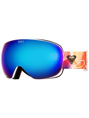 Roxy Popscreen Bright White Aquarel Flowers Goggle
