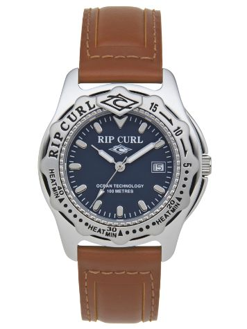 Rip Curl Large Heat Bezel Leather Uhr