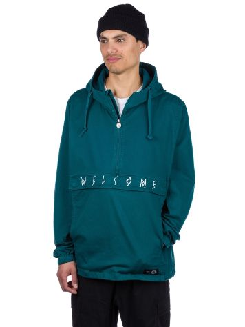 Welcome Scrawl Garment Dyed Twill Giacca a Vento