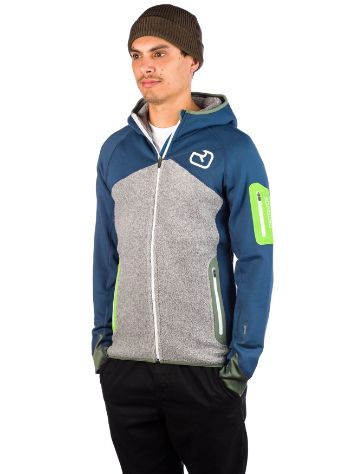 Ortovox Fleece Plus Hooded Giacca in Pile