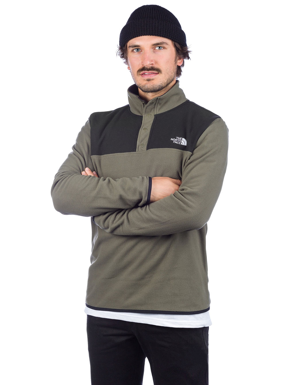 uk availability 4537a 811f6 TKA Glacier Snap Neck Fleece Pullover