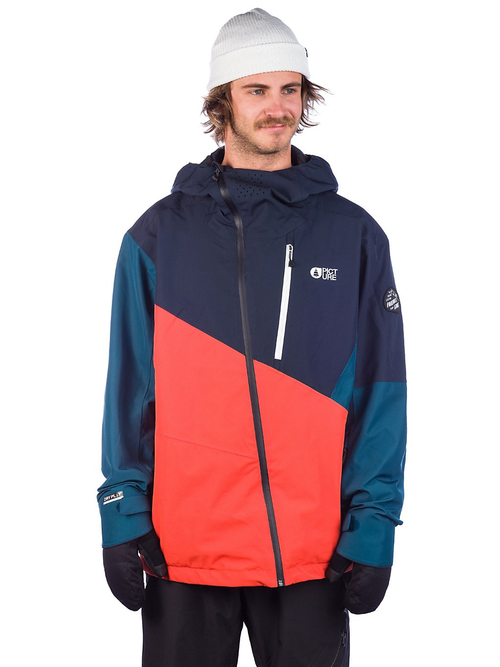 Picture Alpin Jacket c orange dark blue