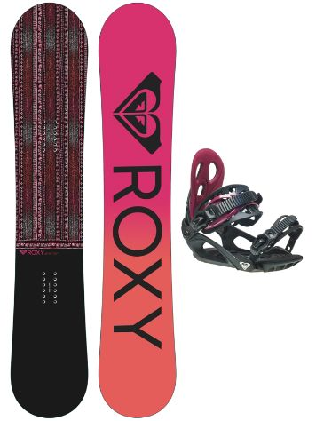 Roxy Wahine Camber 142 + SM 2021 Snowboardsæt