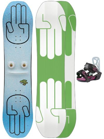 Bataleon Minishred 110 + Mini Shred SM 2020 Conjunto Snowboard