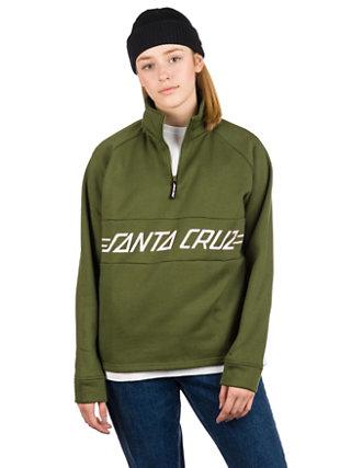 Pinline 1/4 Zip Crew Sweater