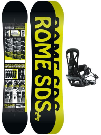 Rome Mechanic 161W + United L 2020 Snowboard Set