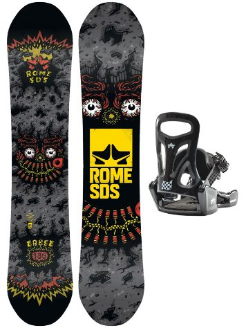 Rome Label 135 + Minishred S 2020 Conjunto Snowboard