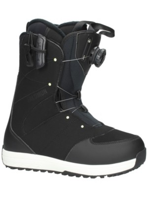 Salomon Ivy All Black Snowboard Boots Size 8 all black