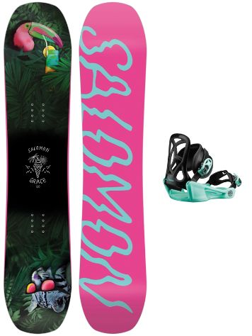 Salomon Grace 130 + Goodtime XS 2020 Snowboard Set