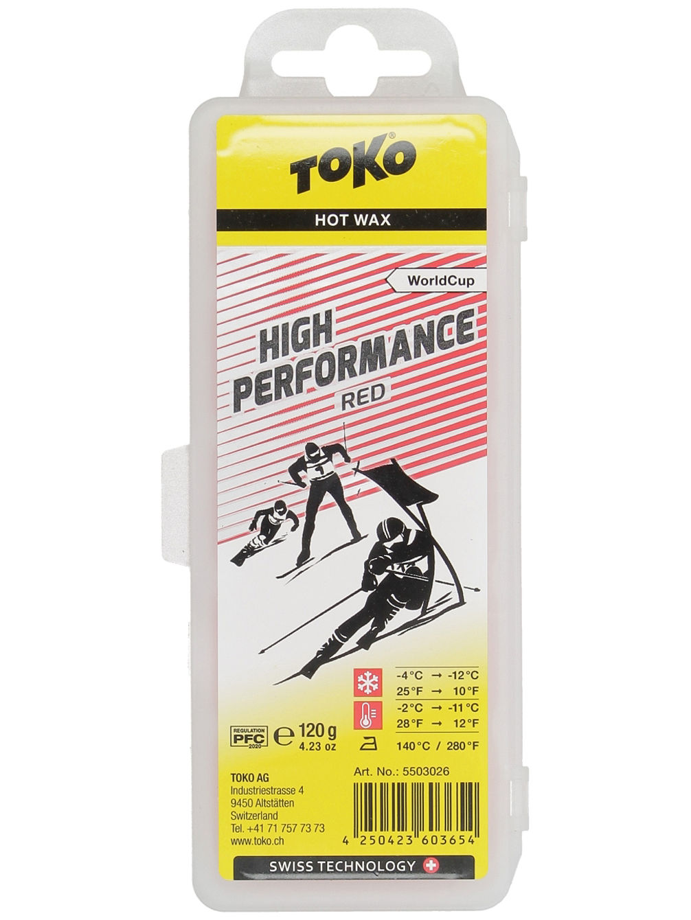 High Performance Red -2°C / -11°C Wachs