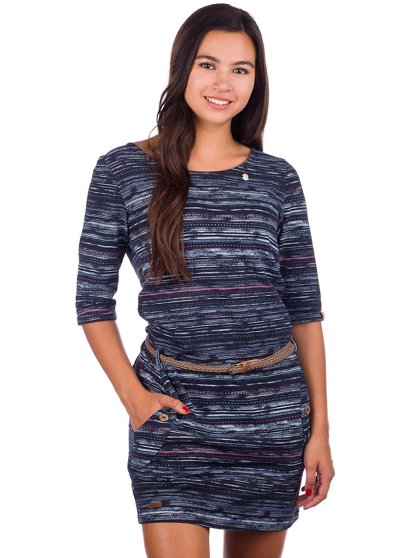 ragwear Tanya Print Dress navy
