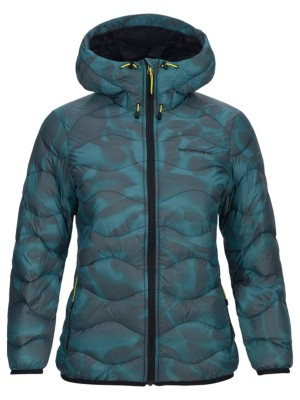 Helium Aqua Print Hooded Outdoorjacke