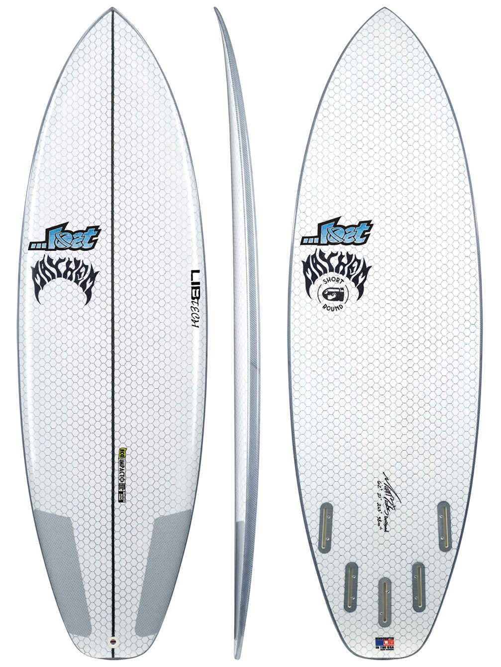 X Lost Short Round 6'2 Surfboard