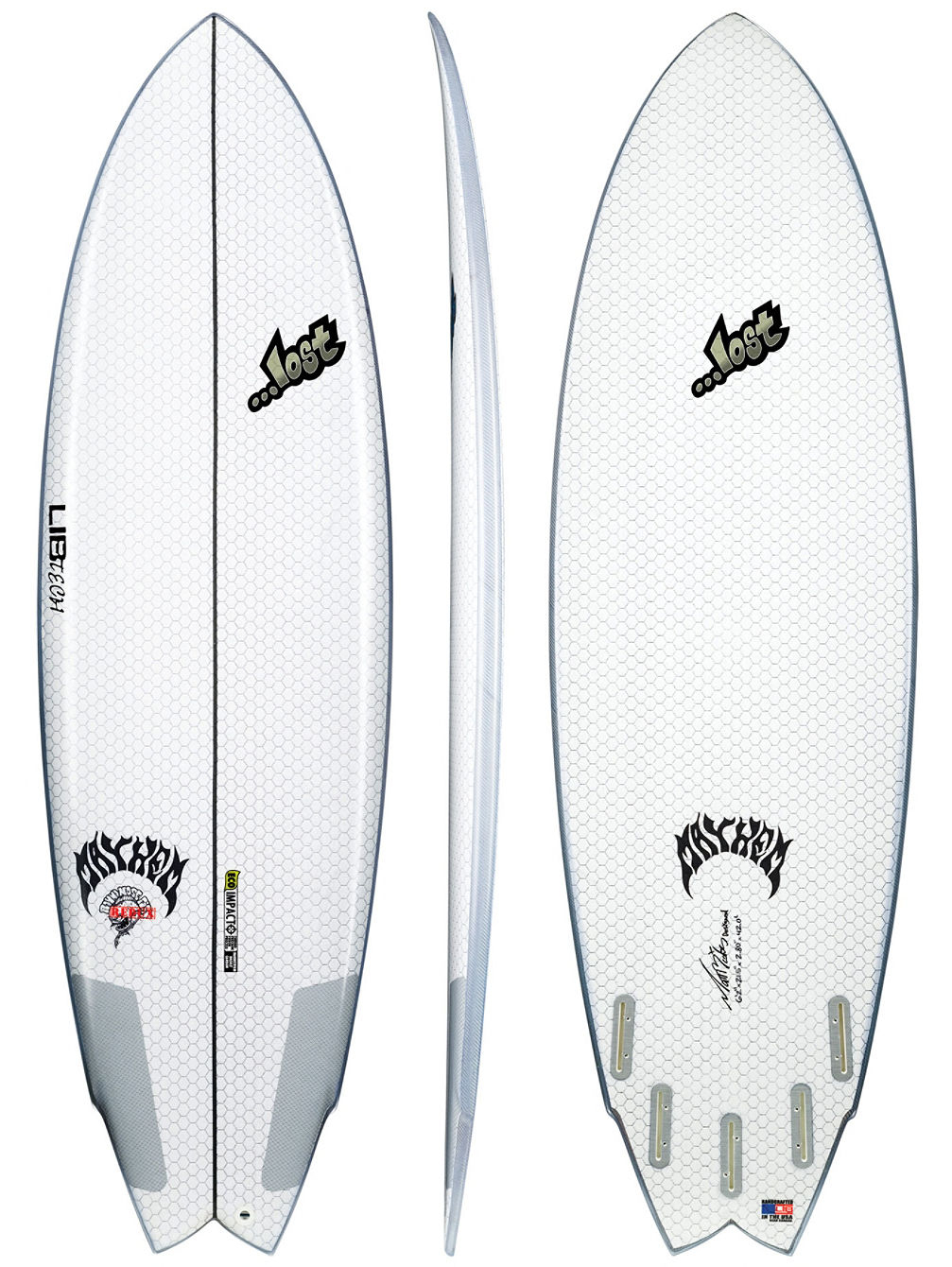 X Lost Round Nose Fish 6'2 Surfboard